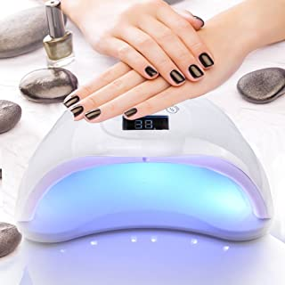 Biutee 48W nail dryer UV Nail Lamp Gel Nail Lamp UV LED Dryer Curing Lamps with 3 Timer Setting low power consumption mode LED Display Automatic Sensor Nail Curing Dryer