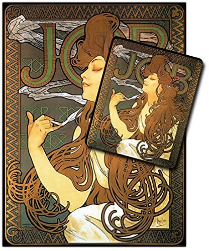 1art1 Alphonse Mucha, Job, 1896 1 Poster Reproduction (80x60 cm) + 1 Tapis De Souris (23x19 cm) Set Cadeau