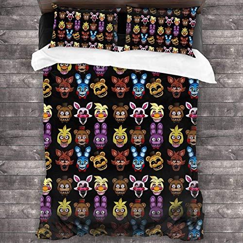 Juego de ropa de cama de 3 piezas de 218 x 177 cm, colcha y edredón de cinco noches con 2 fundas de almohada clásicas, impresión 3D para habitación de huéspedes de hombre.