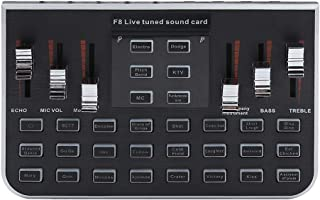 fosa Portable Live Sound Card Mobile Phone Live Broadcast Karaoke Voice Changer with 4 Variants Tones Mixers Sound Card Live for Dodge MC Reverb KTV and Soundtrack
