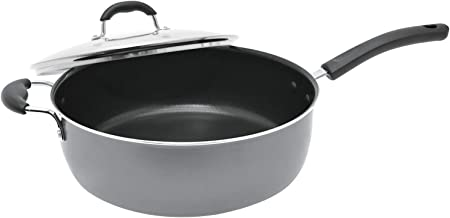 Starfrit T033155 Jumbo 7.2-Quart/12-Inch Cooker with Lid, One Size, Black
