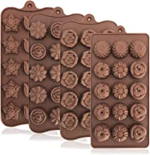 4 Pack Flower Shape Silicone Molds Chocolate Candy Mold, DanziX Silicone Mold for Wedding,Festival, Parties, DIY Enthusias...