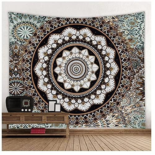 QJIAHQ Mandala Arazzo Appeso A Parete Arazzo Multifunzionale Boho Stampato Copriletto Copriletto Yoga Mat Coperta Picnic Cloth-200 * 150 cm