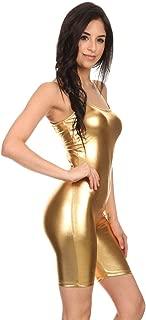 Women's Teamwear Metallic and Cotton Spaghetti One piece Jumpsuits Unitard Bodysuits(&Plus)