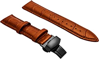 Genuine Leather Watch Band Balck Brown 12-24mm Padded Watch Strap For Men Women