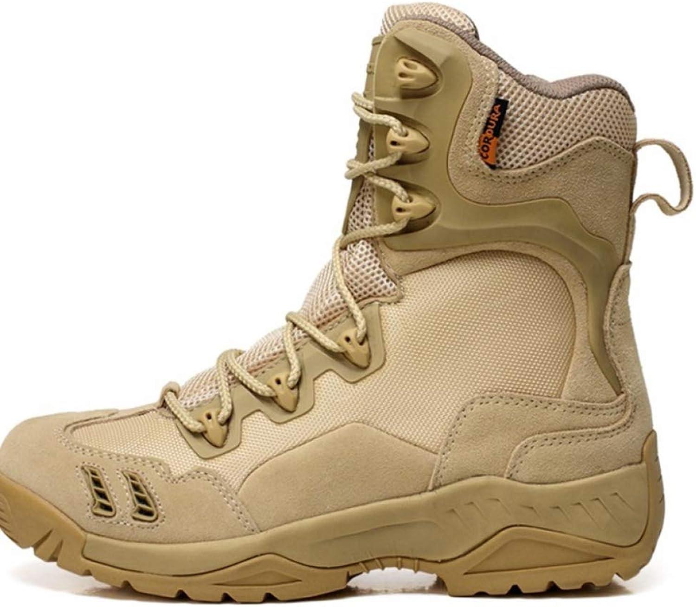 WEGCJU Men's Martin Boots High Wear Wear Desert Boots Non-Slip Walking shoes Chelsea Waterproof Military Boots