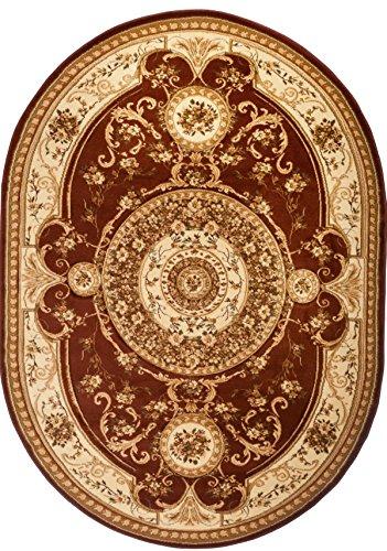 Carpeto Rugs Tapis Ovale Salon Marron 200 x 300 cm Oriental/Iskander Collection