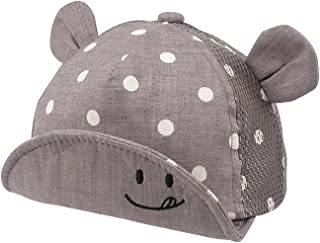 KSdeal Adjustable Baby Sun Hat Dot Pattern Spring Summer Girls Boys Sun Hat with Ears Newborn Photography Props