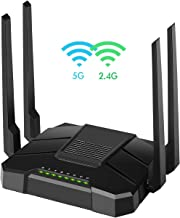 $69 » 【2019 Newest】 Smart WiFi Router Dual Band Gigabit Wireless Internet Router for Home AC1200 High Speed Internet Router with USB 2.0 & SD Card Slot VPN Server Firewall Parental Control