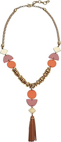 Lucky Brand Leather Statement Necklace