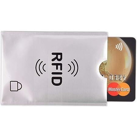 CSbrands 10x RFID Blocking Card Sleeve - Secure Credit/Debit Card Holder ID Anti Theft Ultra Thin