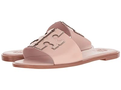 Tory Burch Ines Slide (Sea Shell Pink/Silver) Women