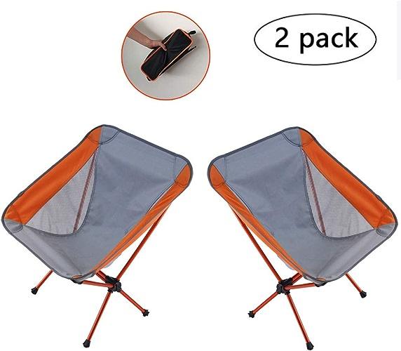 ZQ Paquet de 2 tabourets de Camping pliants, Chaise de Sac à Dos rectangulaire léger à pli Portable, Chaise de Plage Basse en Alliage d'aluminium pour la pêche, la randonnée, Le Jardinage, Les voyag