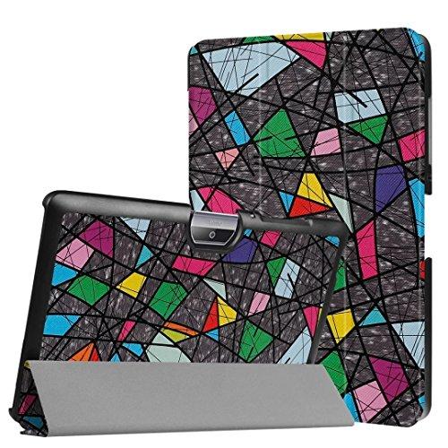 Lobwerk Schutzhülle für Acer Iconia Tab One 10 B3-A30 B3-A32 A3-A40 10.1 Zoll Hülle Bookstyle Cover Hülle (Abstrakt)