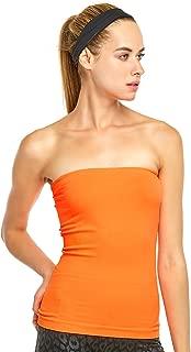 Sofra Women's Seamless Plain Colored Tube Top