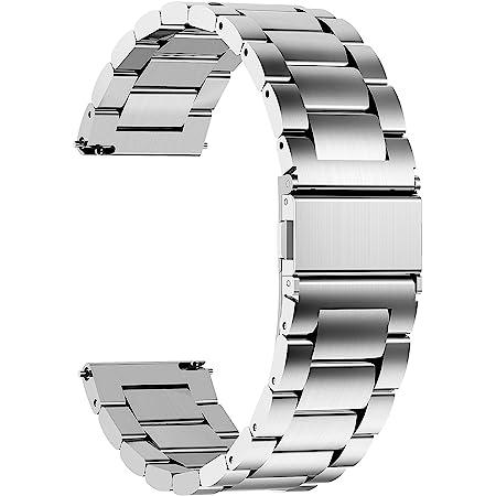 Fullmosa Bracelet SamsungGearS3Classic/Frontier Bracelet 22mm Argenté Bracelets de Montre en Acier Inoxydable pour Homme/Femme