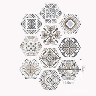 skwff Suelo Mural PVC Impermeable baño 3D Piso Etiqueta Papel Cocina Etiquetas engomadas creativas del azulejo hexagonal pegatinas de piso de mosaico diy