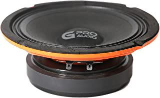 "Genius GPRO-M038 8"" 400 Watts-Max Super Slim Midrange Car Audio Speaker 4-Ohms"