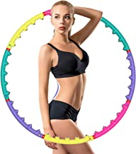 Smart Hula Hoop Hula Hoop Magnetic Massager 8 Section Weighted Hula Hoop Afneembare Fitness for Adults Adujustable Gewogen...