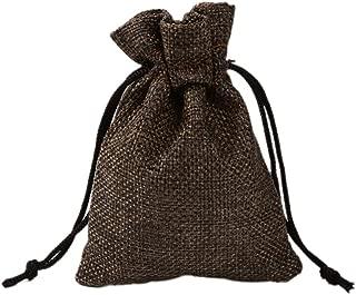 50Pcs 13x18CM Nylon Drawstring Pouches Burlap Gift Bags for Party Wedding Favors Jewelry Craft Sacks Christmas Bag,Brown