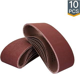 POWERTEC 110810 3 x 18 Inch Sanding Belts | 80 Grit Aluminum Oxide Sanding Belt | Premium..