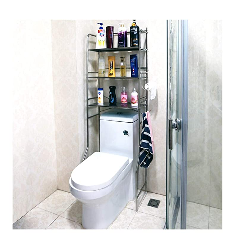 沈黙パイプライン私のキッチン、 収納ラックトイレラックバスルームスペースセーバー三層ステンレス鋼トイレ収納棚 家具