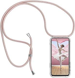 Lanyard Case for Xiaomi Redmi Note 5A Smartphone Cover Ultra-Slim Transparent Silicone Crystal Soft Flexible TPU Gel Case ...