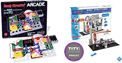"Snap Circuits ""Arcade"", Electronics Exploration Kit, Ages 8+, Multicolor & BRIC: Structures   Brick & Electronics Explorat..."