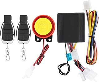 Motorcycle Security Alarm System,12V Universal Motorcycle Wireless Anti-theft Security Alarm System with 2 Remote Control