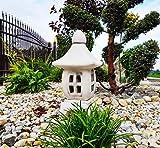 Adorno de jardín - Piedra Pagoda/Linterna de Estilo japonés Yukimi Oki Gata