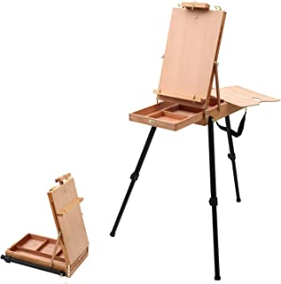 Falling in Art Beech-Wood Light Weight French Easel with Aluminum Tripod
