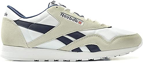 Reebok Men's Cl Nylon M Fitness Shoes, Multicoloured (Archive/White/Collegiate Navy Blue 000)