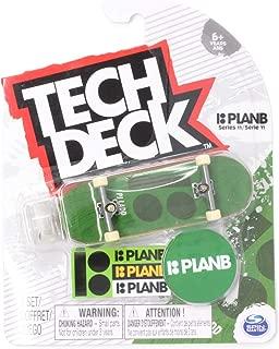 Mini Fingerboards Plan B Skateboards Series 11 PJ Ladd Stained Green Complete Deck