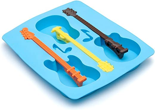 GeekGoodies Guitar Shape Ice Cube Tray with Stirs