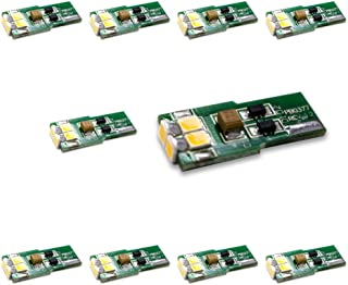 Brightech - Package of 10 LED Replacements for Malibu Landscape Lights - T10 Wedge Base - 12V DC - Warm White Color - Brin...