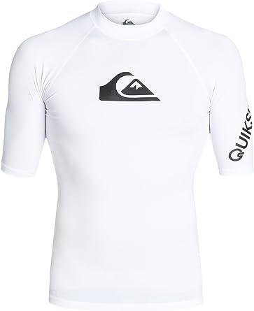Quiksilver Men's All Time Short Sleeve Rashguard Swim Shirt UPF 50+