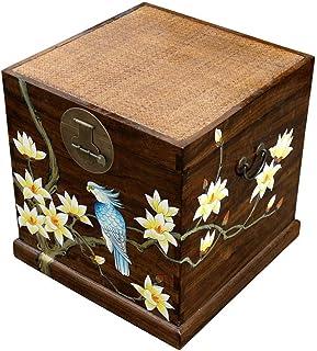 WEHQ Vintage Hand Drawn LP Storage Box, Coffee Shop Book House Gabinete de Almacenamiento de Discos de Vinilo de Madera - ...