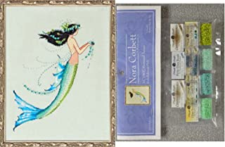 Mirabilia Cross Stitch Chart with Embellishment Pack ~ MERMAID AZURE #190