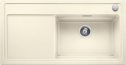 Blanco ZENAR XL 6 S stoomkookpan, keukenspoelbak, granieten spoelbak van Silgraniet PuraDur, 1 stuk Glazen snijplank 60 cm...