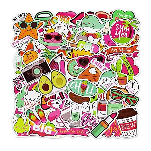 BESROY Pegatinas (100 unidades), pegatinas decorativas de graffiti, pegatinas de vinilo para portátiles, niños, frigoríficos, coches, motos, monopatines, equipajes, pegatinas hippie