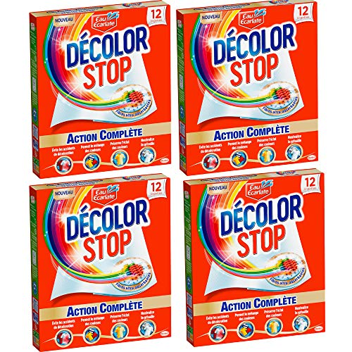 Décolor Stop - 12 Lingettes Anti-Décoloration - Lot de 4