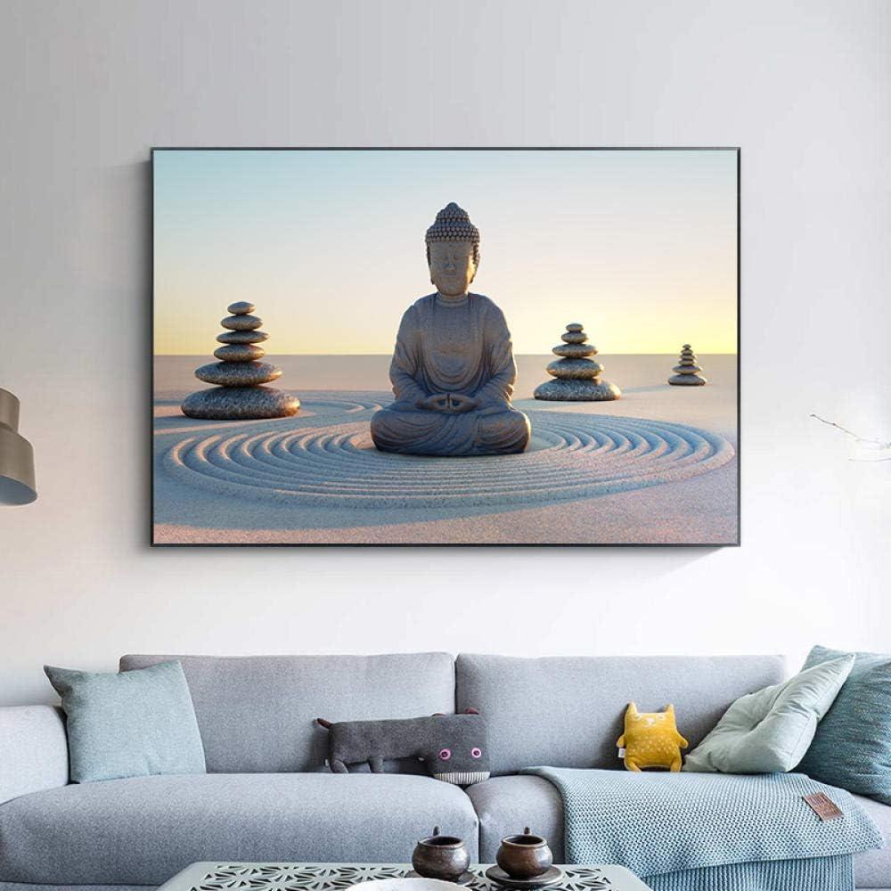 DIY Paint by Numbers Buddha Canvas Kit New Free Shipping Religion Art San Jose Mall Buddhism
