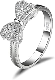JewelryPalace Cubic Zirconia Wedding Anniversary Promise Ring 925 Sterling Silver
