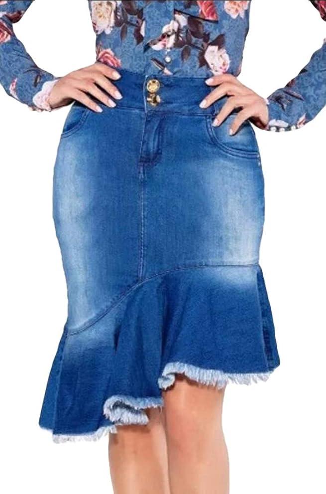 omniscient Women Fashion High Waist Denim Jeans Skirt Skinny Short Pencil Skirt Dress