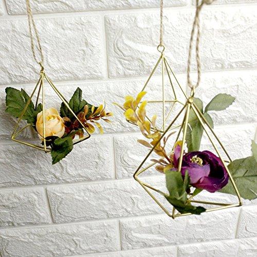 YHNHT Soporte para plantas de aire de metal para decoración de mesa, diseño geométrico moderno, para colgar plantas de aire, soporte para colgar en casa, boda, fiesta