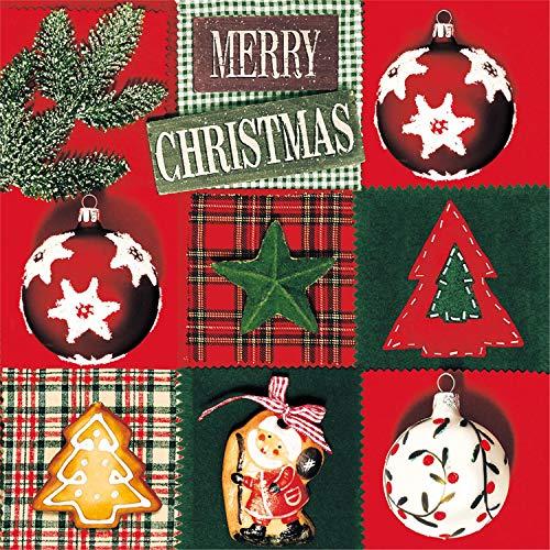 Tovaglioli di carta monouso, Paese di Natale, 20 pezzi 3 strati - 25 x 25 cm