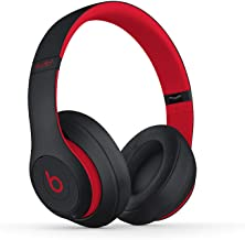 Beats Studio3 Wireless Noise Cancelling Over-Ear Headphones - Apple W1 Headphone Chip, Class 1 Bluetooth, 22 Hours of Listening Time, Built-in Microphone - Defiant Black-Red (Latest Model)