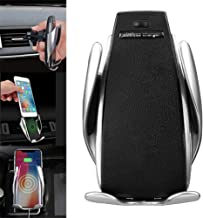 Automatic Clamping Wireless Car Charger Mount - Car Charger Holder for iPhone XR XS Max X 8 8+,10W Fast chargeing for Samsung All.Infrared Motion Sensor Automatic Open and Clamp for Safe Driving