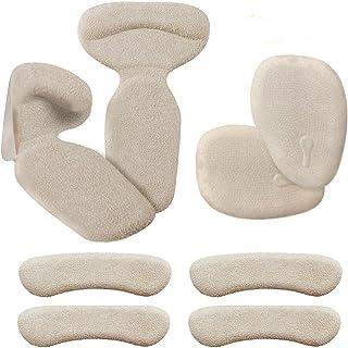 Biwat Almohadillas de tacón alto (8 piezas) – tacón alto, inserciones de talón, plantillas antideslizantes para talón y espalda con almohadillas de tacón alto para zapatos, botas (Beige)