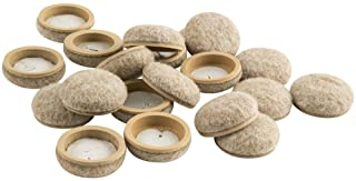 """Super Sliders 4318595N Formed Felt 1"""" Furniture Movers for Hard Surfaces (20 piece) - Oatmeal, Round SuperSliders, 1 Inch,..."""